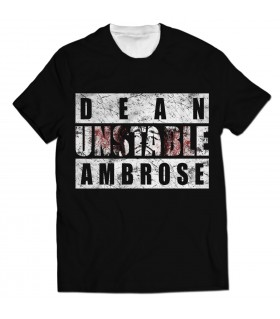 dean ambrose all over printed t-shirt