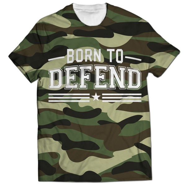 Born To Defend All Over Printed T-Shirt