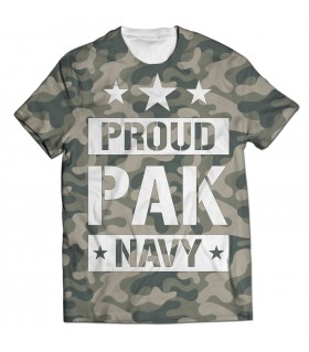 proud pak navy all over printed t-shirt