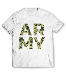army printed graphic t-shirt