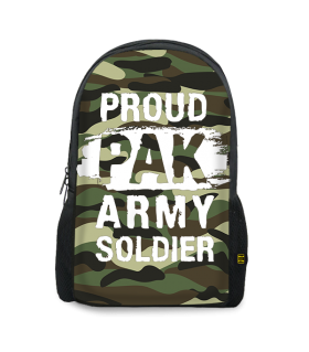 army soldier printed backpacks
