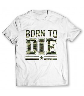 born to die printed graphic t-shirt