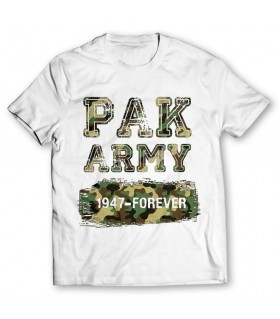 pak army 1947 printed graphic t-shirt