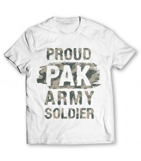 proud pak army printed graphic t-shirt