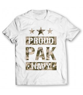 proud pak navy printed graphic t-shirt