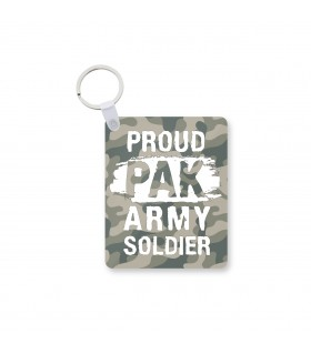 army soldier printed keychain