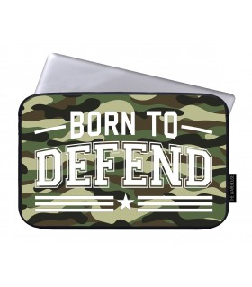 born to defend printed laptop sleeves