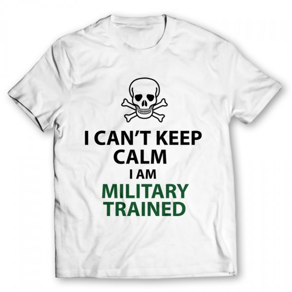 Military Printed Graphic T-Shirt