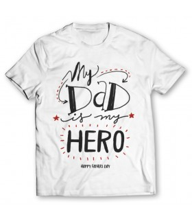 dad is my hero printed graphic t-shirt