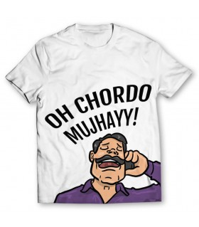 chordo mujhayy printed graphic t-shirt