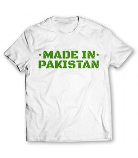 made in pakistan printed graphic t-shirt