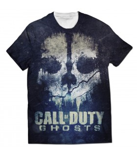 call of duty ghost all over printed t-shirt