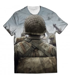 call of duty world war 2 all over printed t-shirt