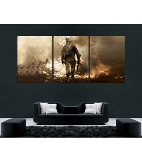 set of 3 call of duty modern warfare canvas frames