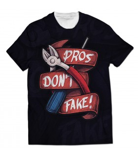 Pros Dont Fake all over printed t-shirt