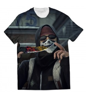 Terrorist Krambit all over printed t-shirt