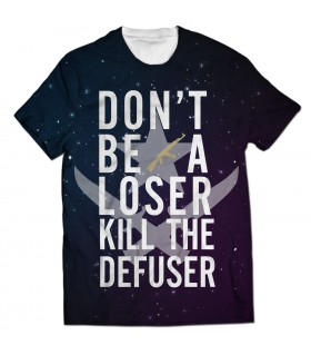 kill the defuser all over printed t-shirt