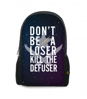kill the defuser printed backpacks