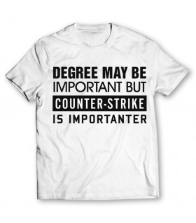 counter-strike is importanter printed graphic t-shirt