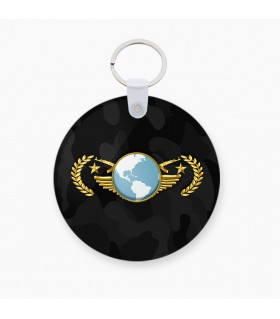 Global Elite printed keychain