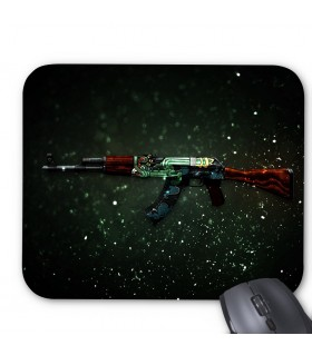 Ak 47 fire serpent printed mouse pad