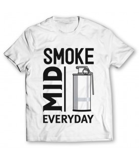 smoke mid every day printed graphic t-shirt