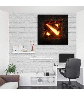 Dota 2 burning canvas frames