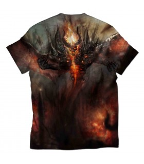 Shadow fiend all over printed t-shirt