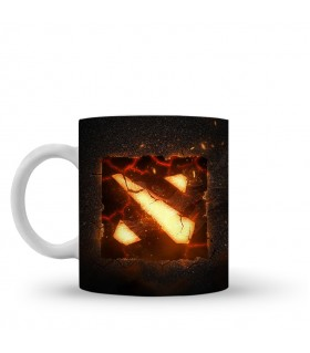 Dota 2 burning printed mug