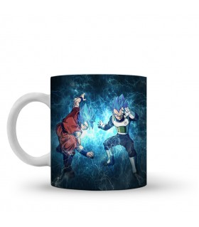 goku and vegeta printed mug