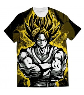 goku ssj all over printed t-shirt