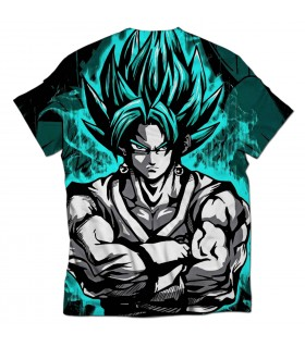 goku ssj blue all over printed t-shirt