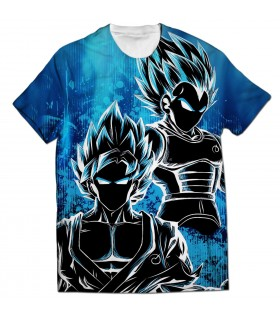 goku vs vegeta all over printed t-shirt