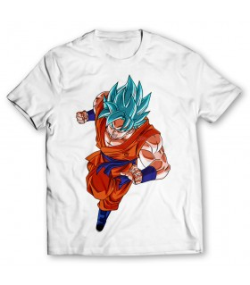 goku ssj printed graphic t-shirt