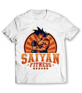 saiyan fitness printed graphic t-shirt