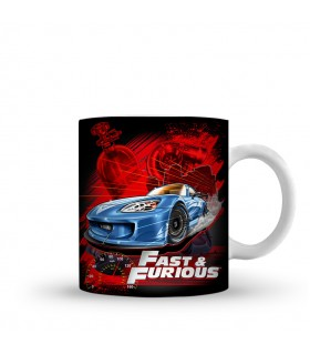 fast and furious printed mug