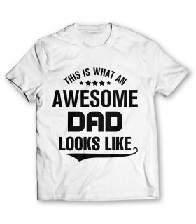 awesome dad printed graphic t-shirt