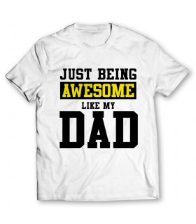 awesome like my dad printed graphic t-shirt
