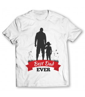 best dad ever printed graphic t-shirt