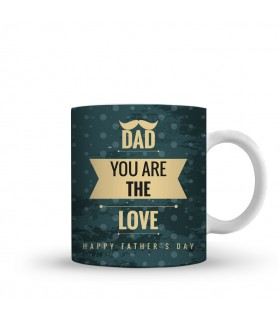 dad is love printed mug