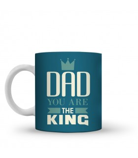 the king dad printed mug