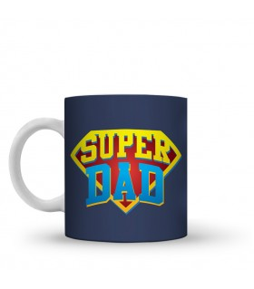 super dad printed mug