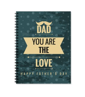 dad is love printed notebook