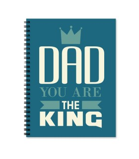 the king dad printed notebook