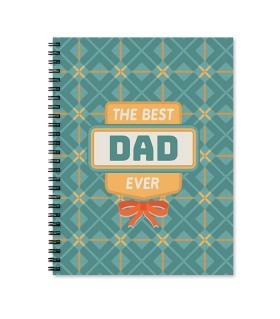 the best dad ever printed notebook
