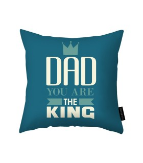 the king dad printed pillow