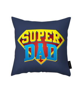 super dad printed pillow