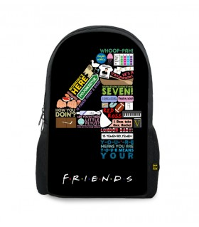 4 friends printed backpacks