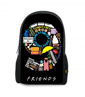 9 friends printed backpacks