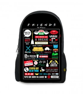 friends printed backpacks